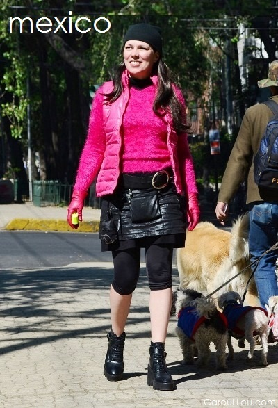 CarouLLou.com Carou LLou in Mexico city walking dogs Travel street style chic-